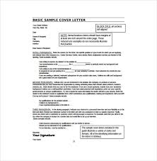 basic resume cover letter example pdf template free download cover letter example format