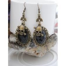 [25% OFF] 2020 <b>Gothic Halloween Faux Crystal</b> Skull Earrings In ...