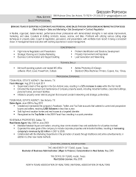 Example Resume  Real Estate Resume Templates  real estate resume
