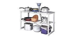 2 Tiers Expandable Kitchen <b>Storage</b> Multi-<b>Functional Rack</b> ...