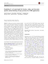 (PDF) Exploiting E. coli auxotrophs for leucine, valine, and threonine ...