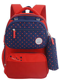 Girl Boy Child Kid Front Removable Bag <b>Reflective Strip</b> Primary ...
