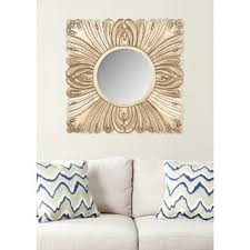 world wall mirrors acanthus safavieh handmade arts and crafts acanthus gold  inch mirror