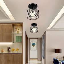 <b>Retro Industrial</b> Recessed Ceiling Lights Metal Simple cage pendant ...