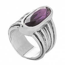 Купить Кольцо «Looping» Фиолетовый ручной работы в бутиках ...