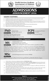 admissionsinhealthservicesacademyphdinpublichealthfcpsmsmscgifadmissions in health services academy phd in public health fcps ms