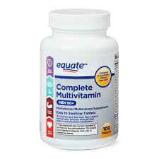 Equate <b>Complete Multivitamin</b> Tablets, <b>Men</b> 50+, 100 count ...