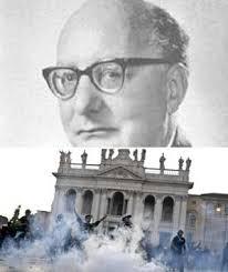 In alto una foto d'archivio di Oronzo Reale. in basso gli scontri a piazza ... - 300x01318921276952comboreale