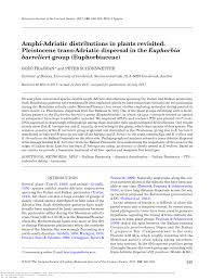 (PDF) Amphi-Adriatic distributions in plants revisited: Pleistocene ...