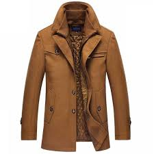 <b>Woolen coat</b> men <b>winter thick</b> windbreaker detachable scarf ...