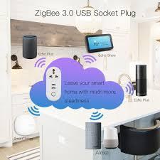 IN ZigBee3.0 Dual USB Wireless Socket Plug SmartThings App ...