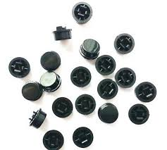 50pcs Black Round Tactile <b>Button</b> Caps For 12×12×7.3mm Tact ...