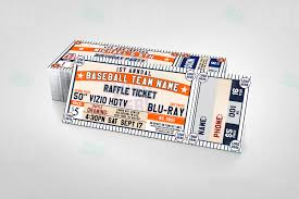 sports invites classic baseball raffle ticket template raffle ticket design 5 1 product 1