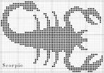 Схема скорпиона для вязания
