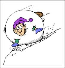 Image result for snowball rolling down a hill