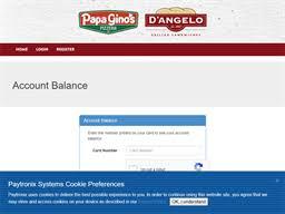 Papa Gino's | Gift Card Balance Check | Balance Enquiry, Links ...