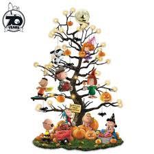 PEANUTS Its the Great <b>Pumpkin</b> Illuminated <b>Halloween</b> Tabletop <b>Tree</b>