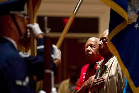 u s department of defense photo essay an air force honor guard presents colors during the opening ceremony of the tuskegee airmen s 40th