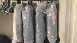 Image result for bin liner covering clothes in hanger