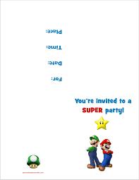 super mario bros printable birthday party invitation super mario bros printable birthday party invitation