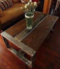 handmade reclaimed wood steel coffee table vintage rustic industrial coffee table american retro style industrial furniture desk