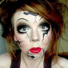 great makeup for creepy doll costume