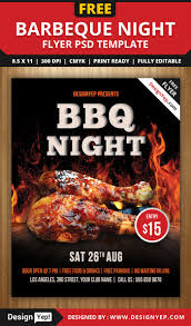 restaurant and food menu flyer templates designyep barbeque night flyer psd template