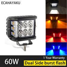 <b>ECAHAYAKU 2PCS 60W 4</b> Inch Cubes Pod LED Work Light 12V