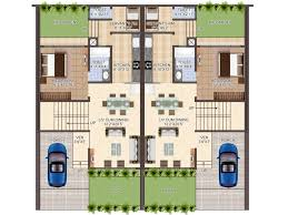Row House Plan   friv games comRow House Floor Plans