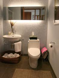 beautiful small bathroom asianminimalism grey texture walls mirror with amazing lighting floating amazing lighting ideas bathroom