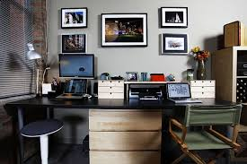 decorations awesome modern home office design ideas with rectangle black painted computer desk combine round black swivel chair also rectangle white wood awesome black painted