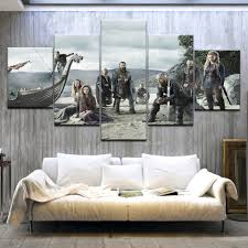 <b>5 Piece HD Printed</b> TV Series Vikings Poster Modern Home Wall ...