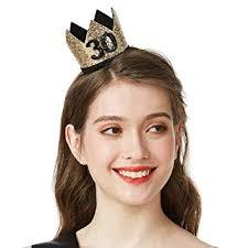 Gold Glitter 30 Birthday Crown - 30th Birthday Party ... - Amazon.com