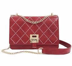 s <b>Fashion PU Shoulder</b> Bag Red Quiltied Chain <b>Crossbody</b> Bag