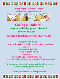 george abbot cake stall baking to fundraise cake poster 2014