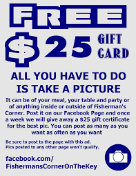 gift certificate to fisherman s corner perdido restaurants gift certificate for fishermans corner seafood restaurant