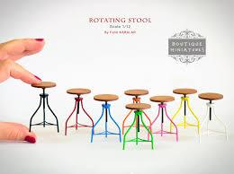 modern dollhouse furniture miniature american iron barstool rotating rotate bar stool vintage dollhouse kitchen modern furniture affordable dollhouse furniture