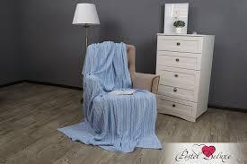 <b>Плед</b> udele цвет: голубой (180х200 см) <b>буэнос ночес</b> из <b>вязаного</b> ...