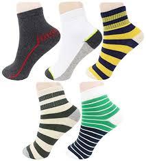 Neska Moda Boys & Girls <b>5 Pairs Striped</b> Ankle Socks For 7 To 13 ...
