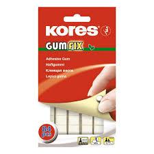 <b>Клейкая</b> лента -масса <b>KORES</b> Gum Fix удаляемая 84 шт/уп 31600