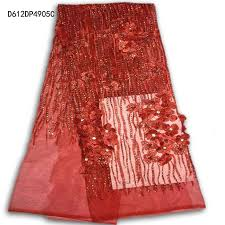 High Quality <b>red</b> African Beaded <b>Lace</b> Fabric With plenty Stones ...