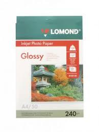 <b>Фотобумага Lomond A4</b> 240g/<b>m2</b> глянцевая односторонняя 50 ...