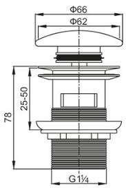 <b>Донный клапан Cezares Articoli</b> Vari CZR-SAT7-Bi