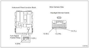 toyota rav4 service manual turn signal light circuit data list toyota rav4 check wire harness headlight dimmer switch instrument panel junction block remove the turn signal