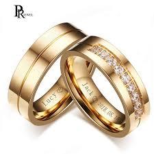 <b>Bling CZ Stone Wedding</b> Bands Rings for Women Men Gold Tone ...