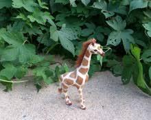 Маленькая <b>игрушка</b> жирафа, Реалистичная кукла <b>ручной работы</b> ...