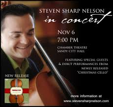 "Featuring special guest apperances and debut performances of tunes off of Steven Sharp Nelson's new album ""CHRISTMAS CELLO"". SEATING IS VERY LIMITED - stevensharpnelsoninconcertnov6m"