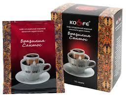 Купить Молотый <b>кофе KO&FE</b> Бразилия Сантос, в дрип-пакетах ...