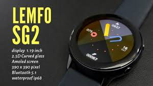 <b>LEMFO SG2</b> Smartwatch - Amoled <b>full</b> round screen 390x390 pixel