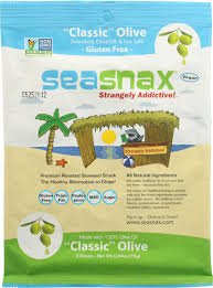 SeaSnax <b>Seaweed</b> Lightly <b>Roasted</b> and Seasoned <b>Classic Olive</b> -- 5 ...